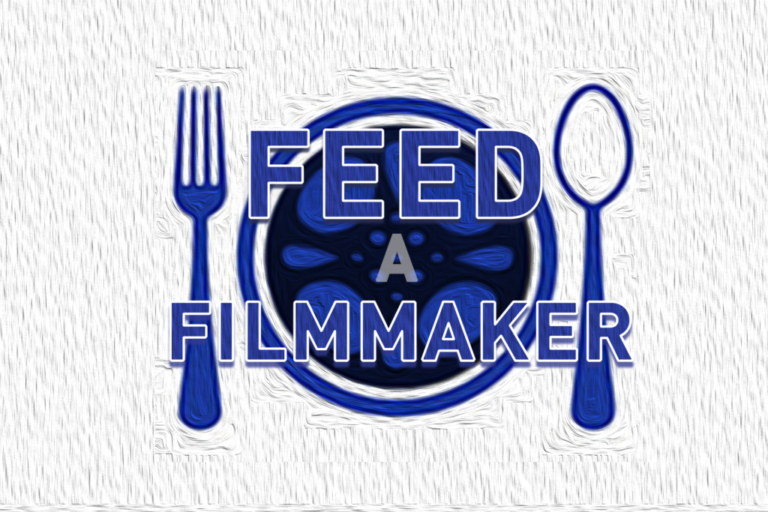 Feed a filmmaker promotional graphic