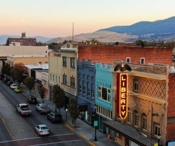 The Liberty Theater on Adams Avenue in La Grande, Oregon