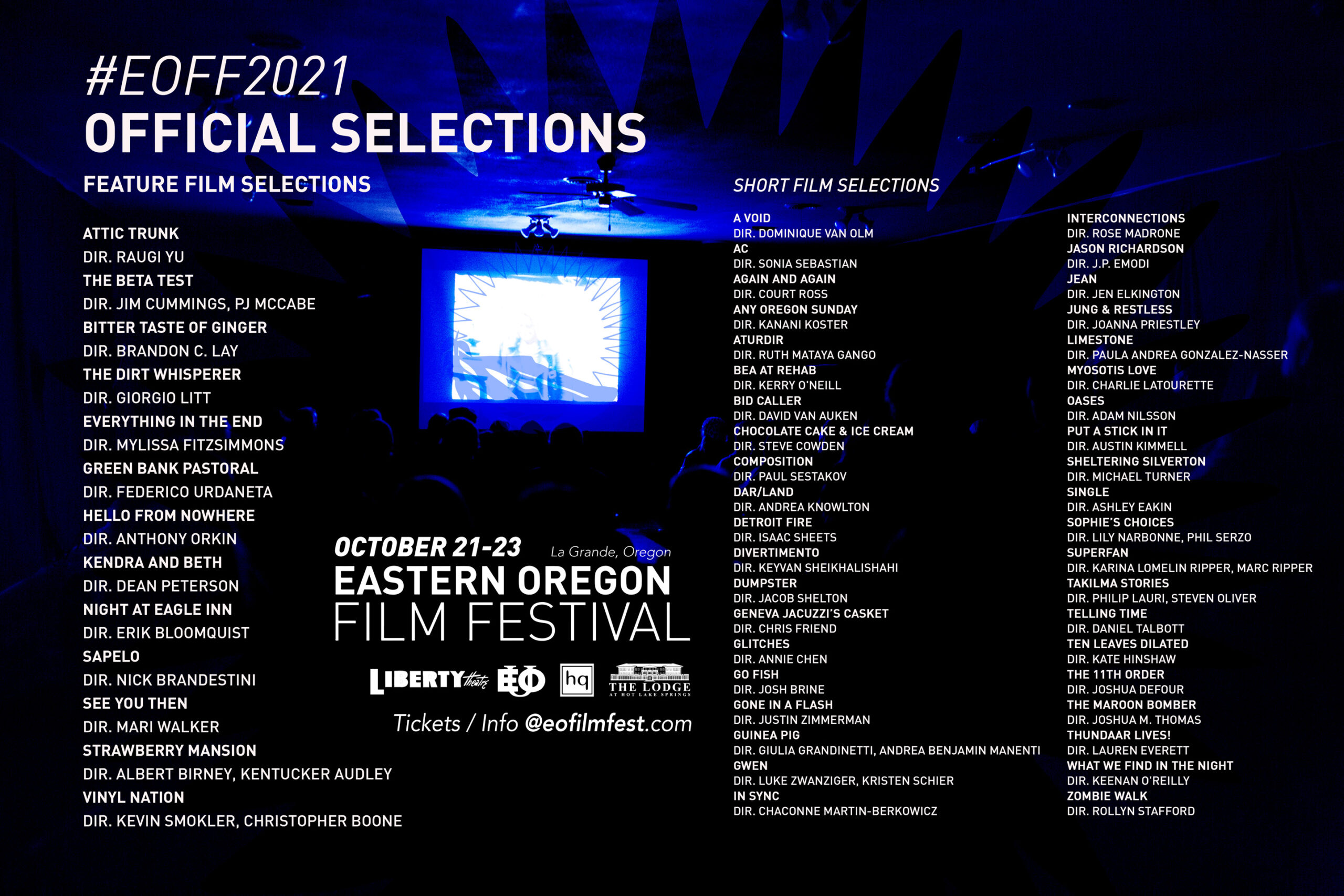 #EOFF2021 Official Selections List