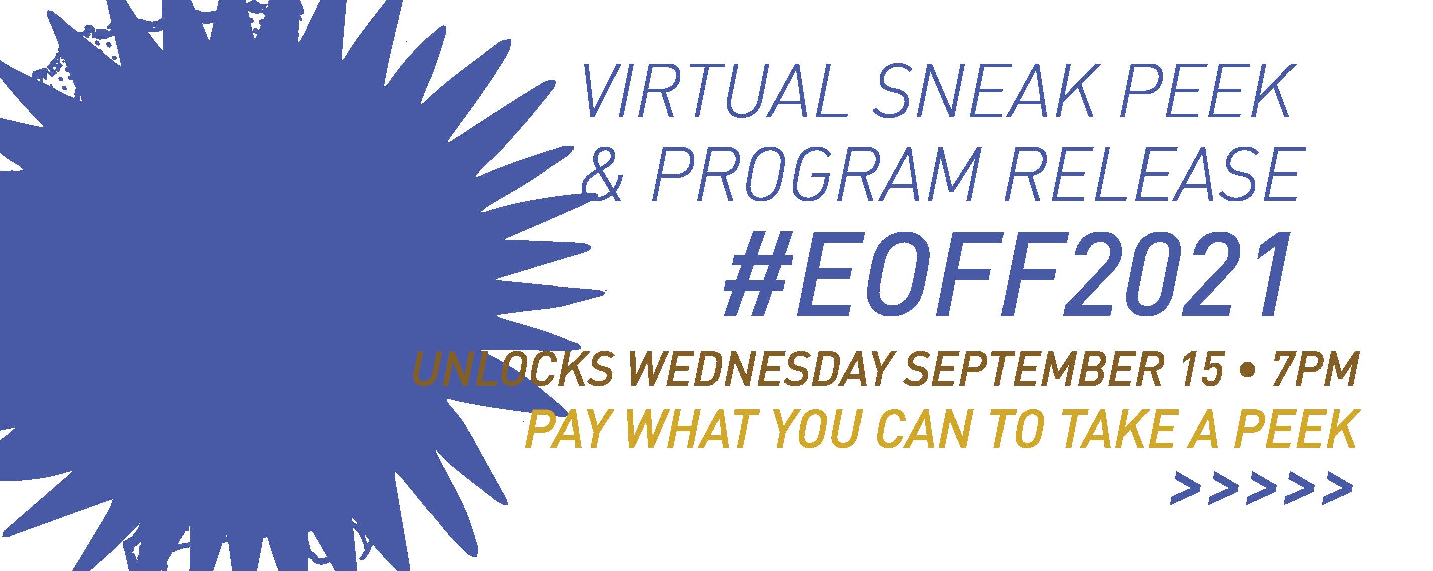 #EOFF2021 Festival Sneak Peek